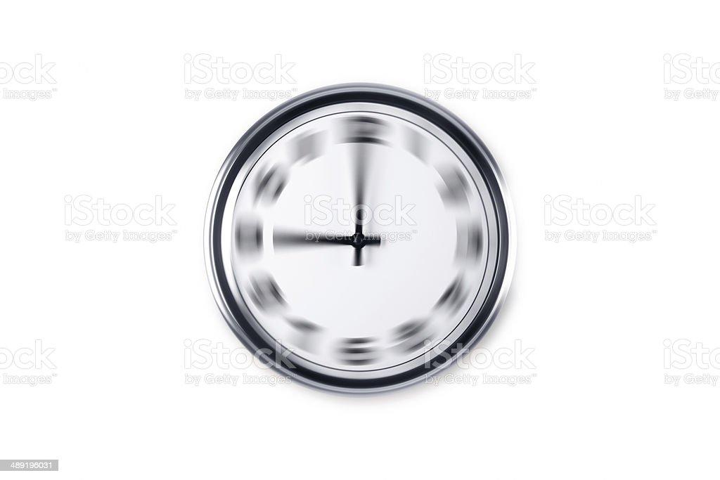 Radial Blurry Wall Clock stock photo