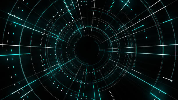 Radial lines techno pattern abstract background stock photo