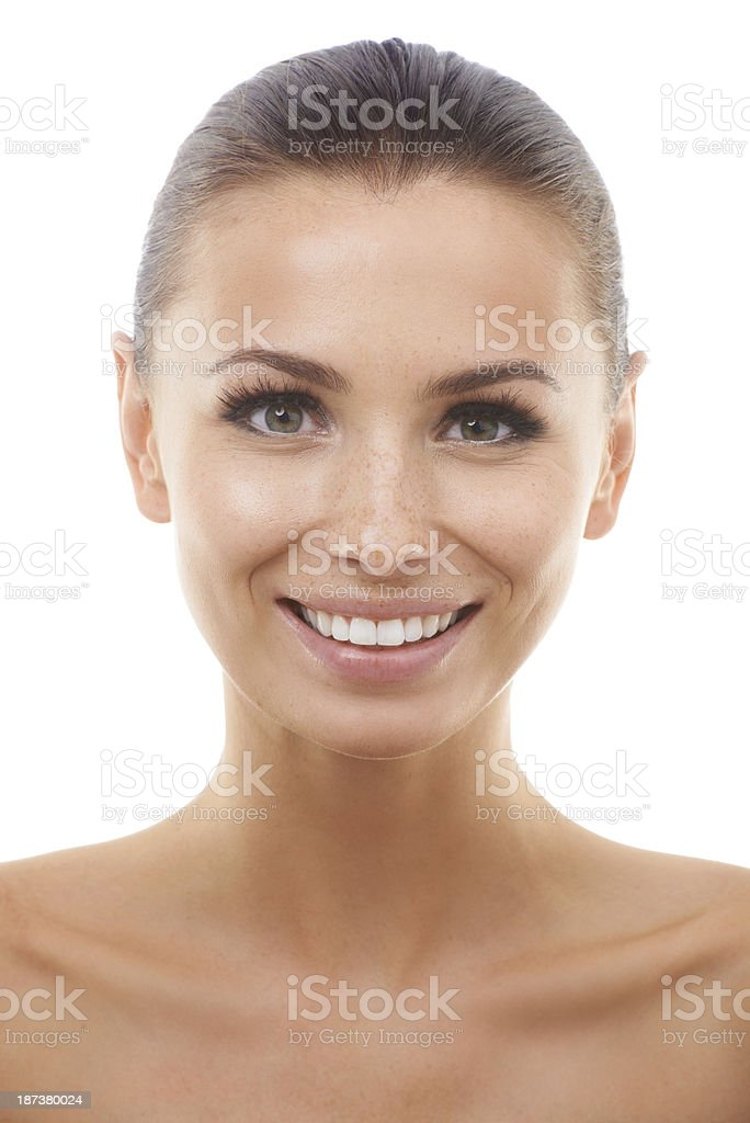 Radiant and happy royalty-free stock photo