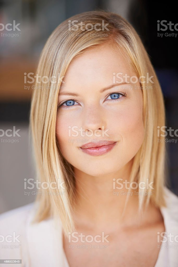 Radiant and self-assured stock photo
