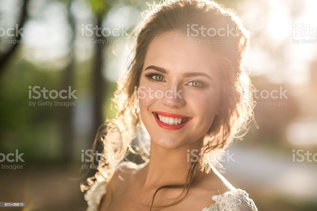 Radiant beautiful bride – Foto