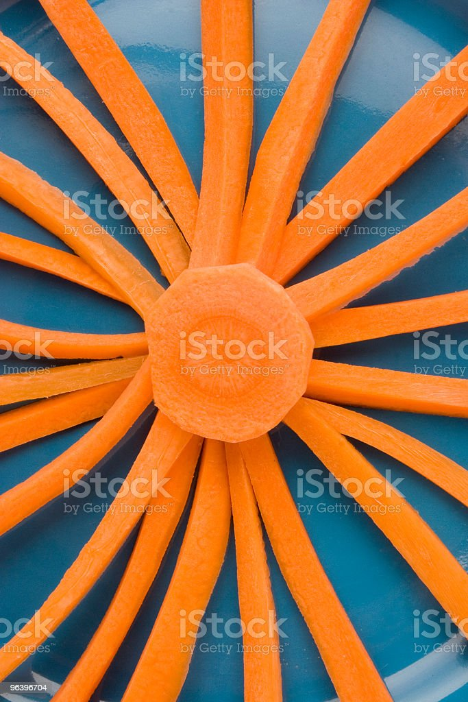 radiant carrot on plate close up - Royalty-free Arrangement Stock Photo