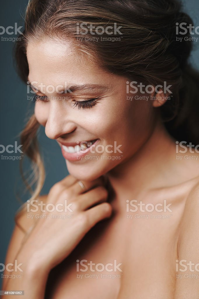 Radiant natural beauty stock photo
