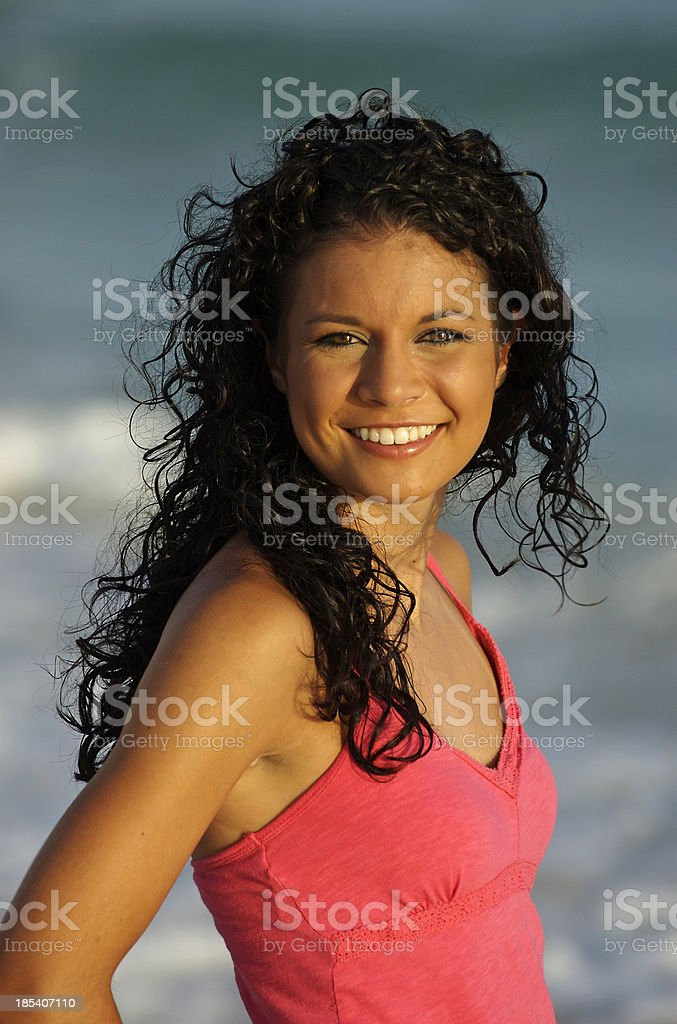 Radiant on the Beach royalty-free stock photo