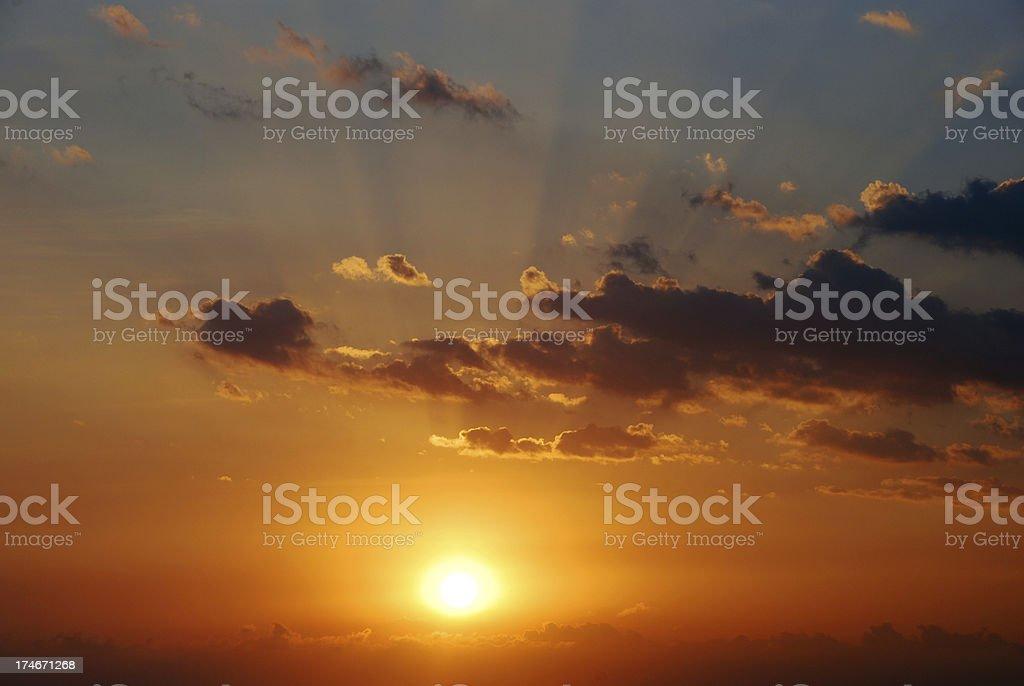 Radiant Sunset royalty-free stock photo