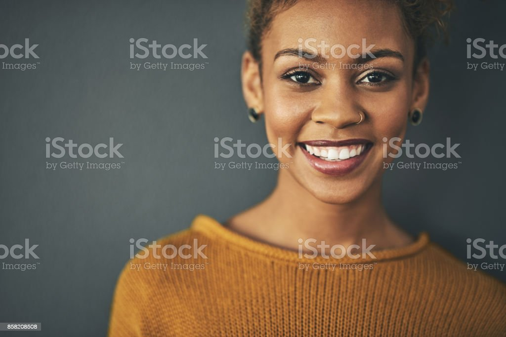Radiating with confidence stock photo