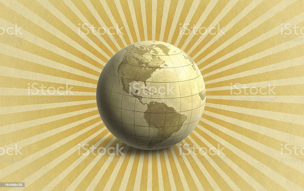 Radiating World Graphic royalty-free stock photo