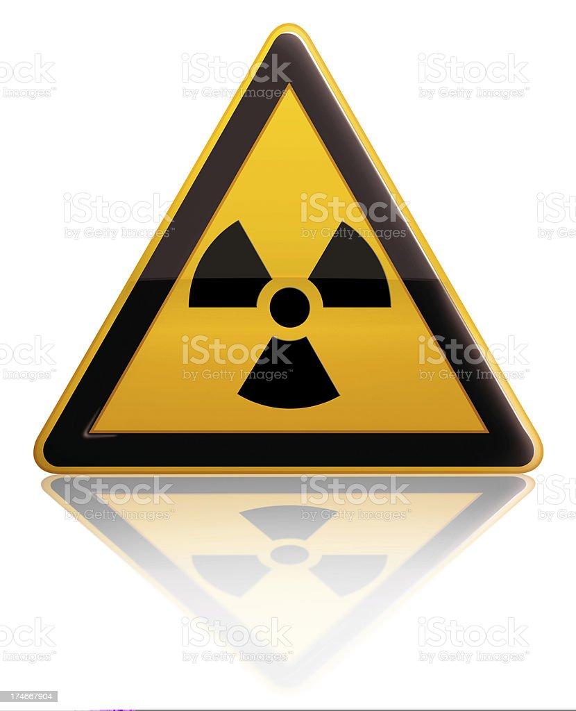 Radiation Alert Sign royalty-free stock photo