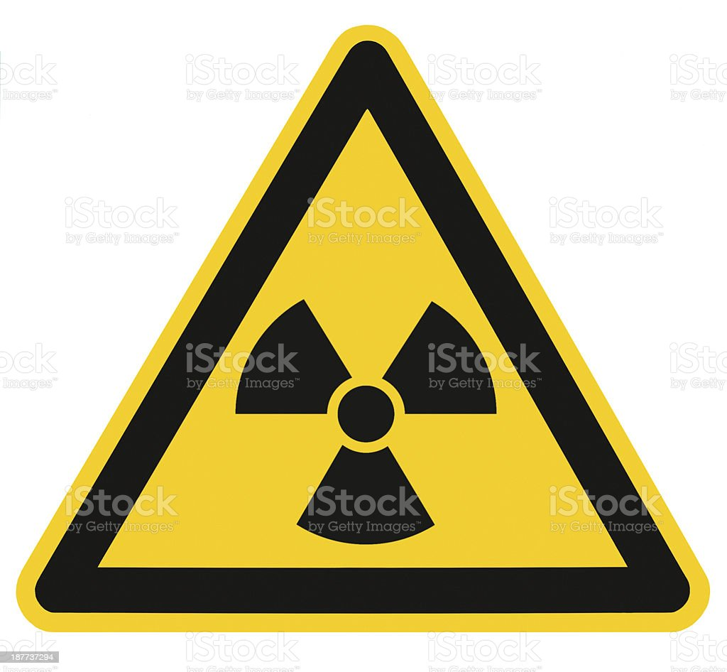 Radiation hazard symbol sign of radhaz threat alert icon isolated stock photo