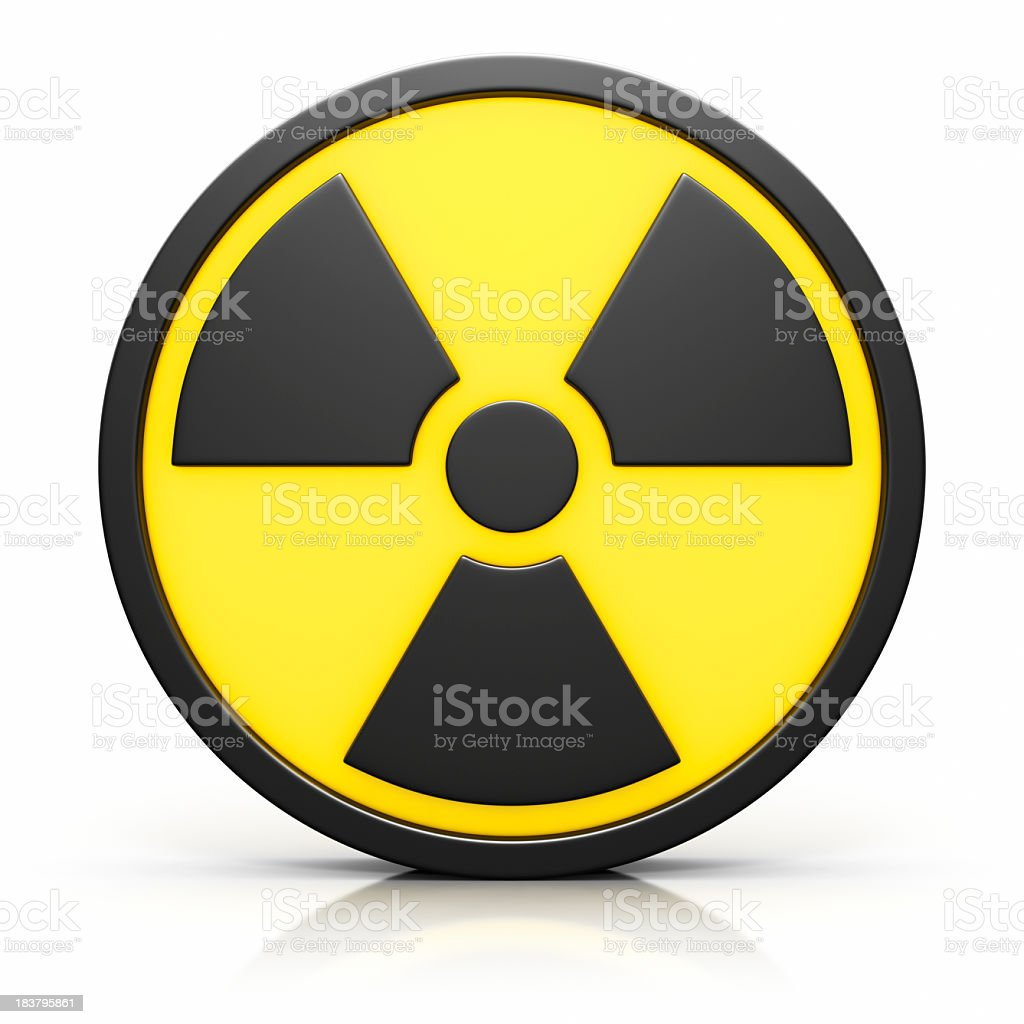 3D Radiation Sign stock photo