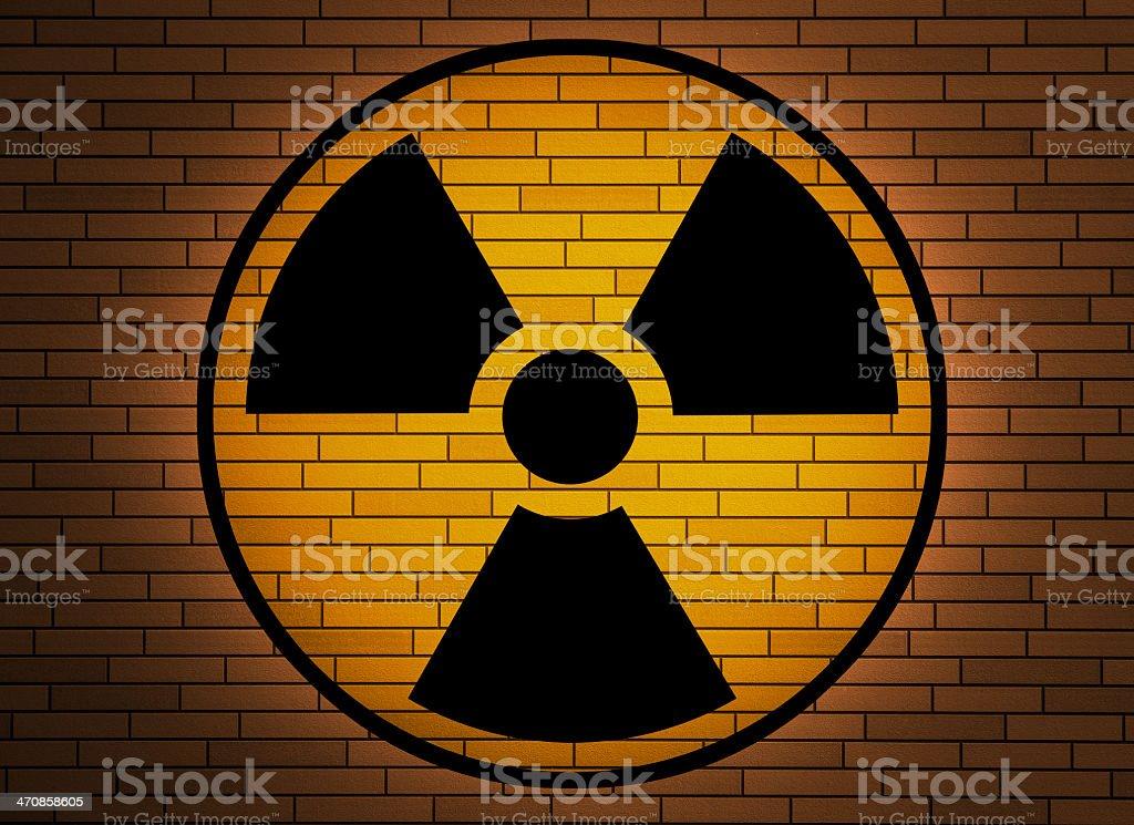 Radiation sign. royalty-free stock photo