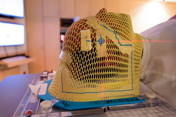 Radiation Therapy Mask stock photo