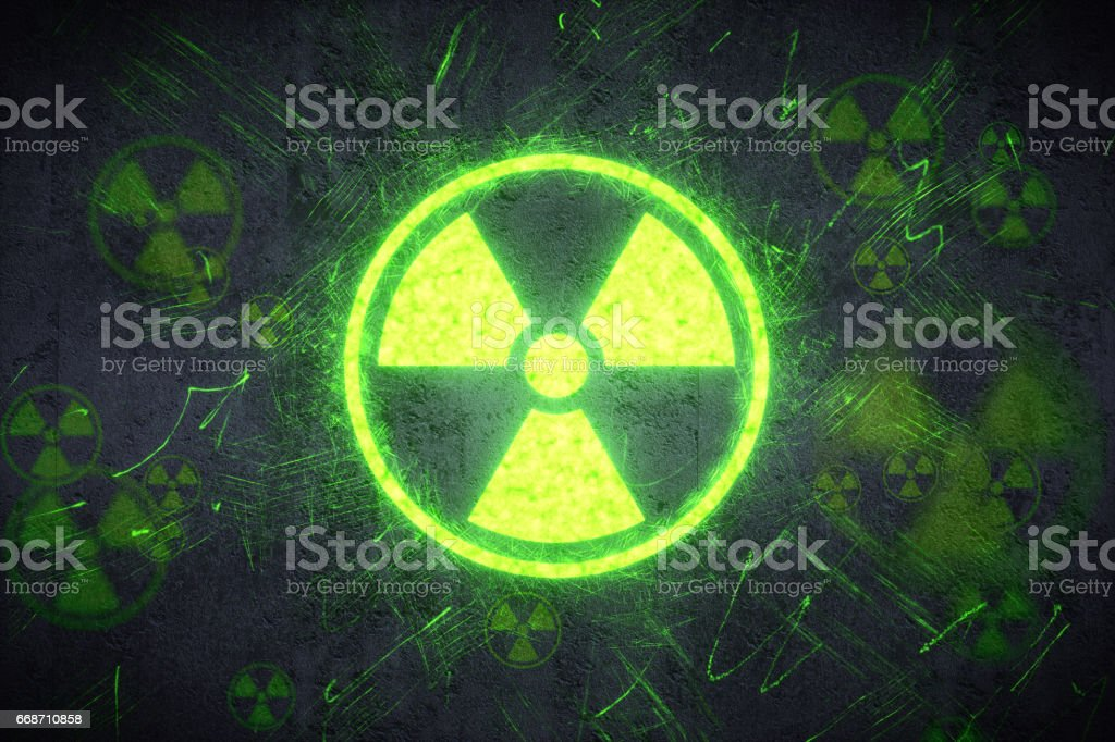 Radiation Warning Design stock photo