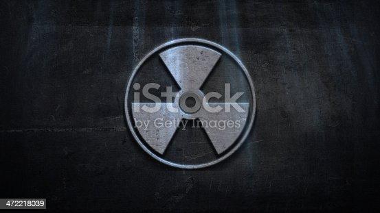 istock Radiation Warning on Grunge Wall 472218039