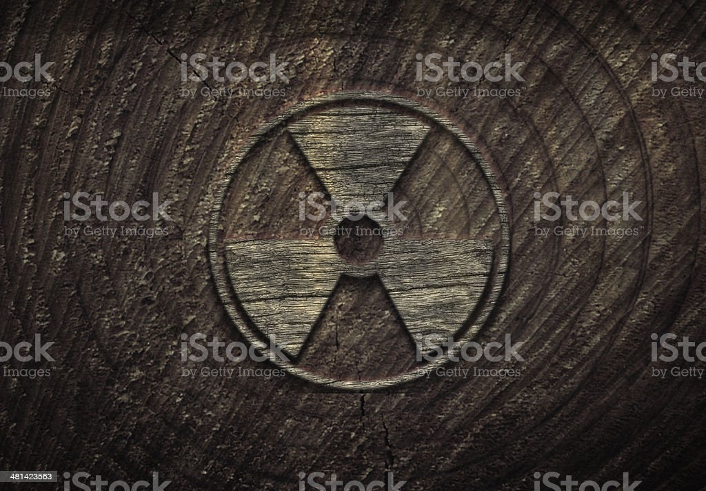 Radiation Warning on Grunge Wall royalty-free stock photo