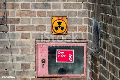 istock Radiation warning sign for firefighters 940039622