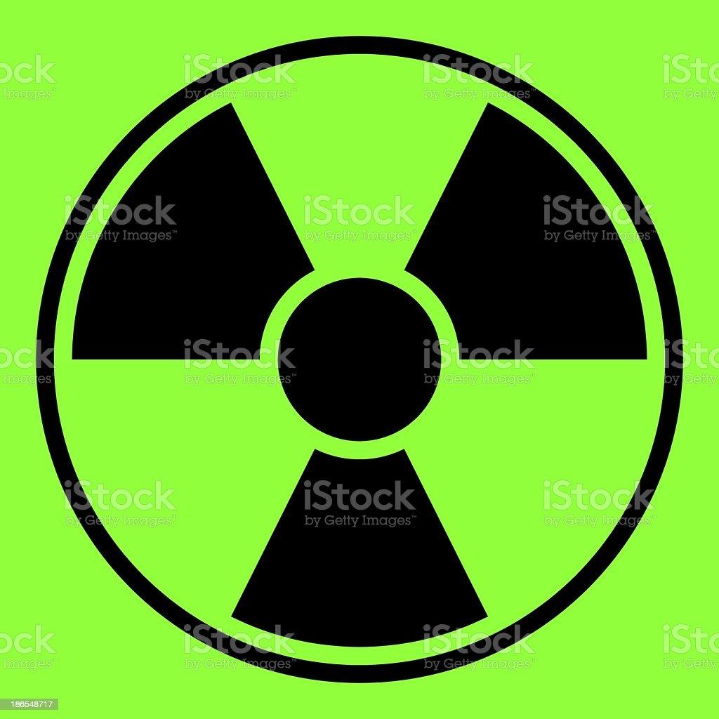 Radiation Warning Sign royalty-free stock photo