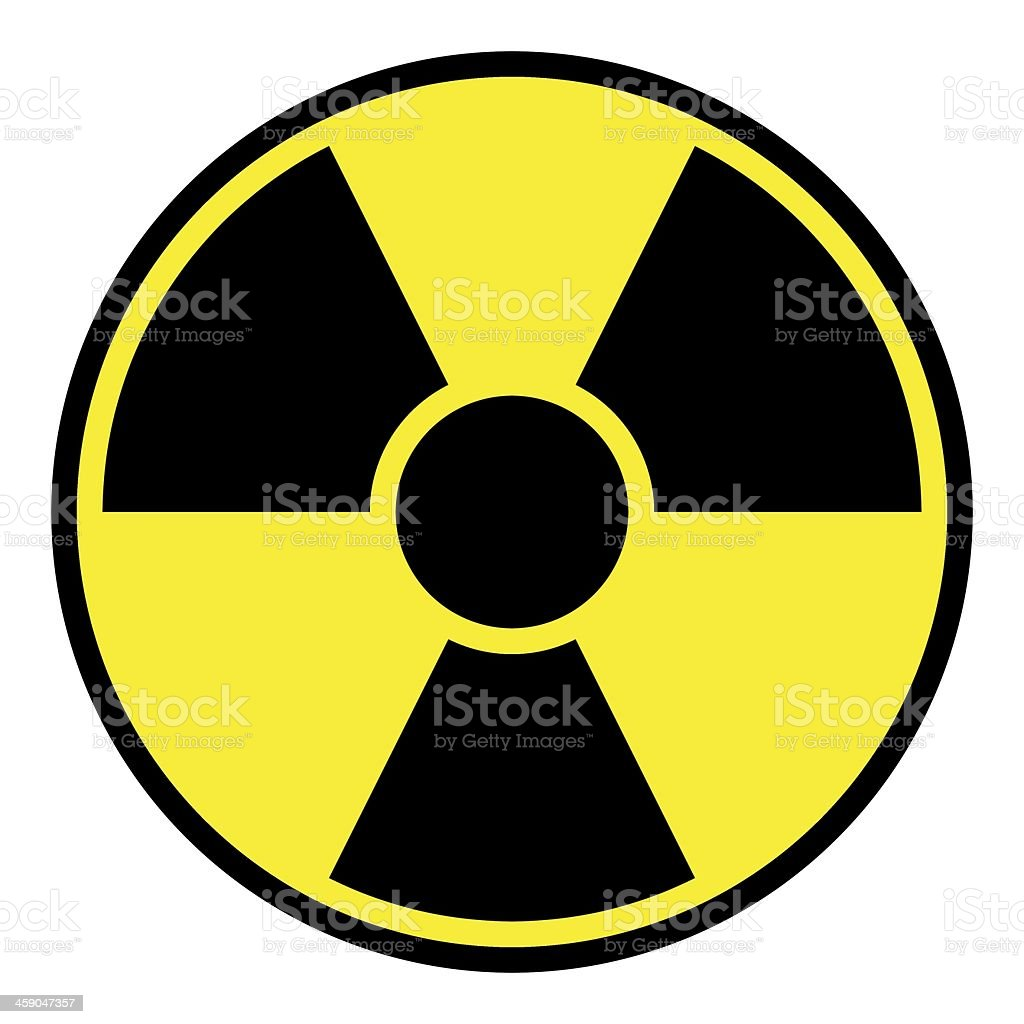 Radiation Warning Sign stock photo