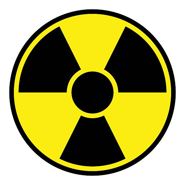 radiation warning sign - symbol stock pictures, royalty-free photos & images