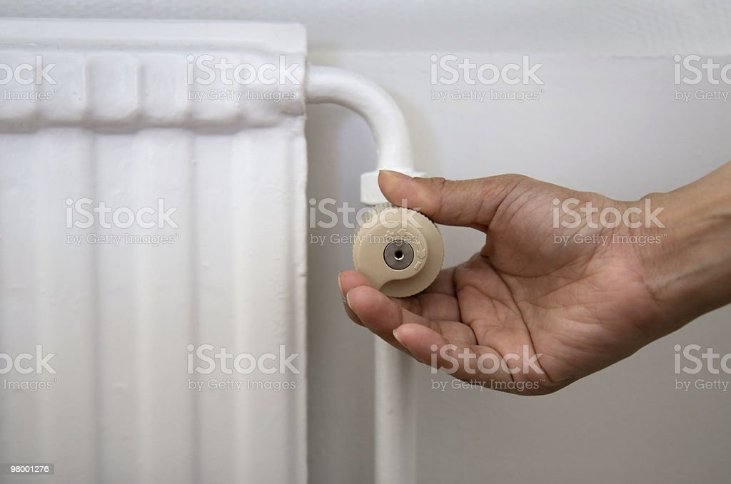 Radiator adjustment royalty-free stock photo