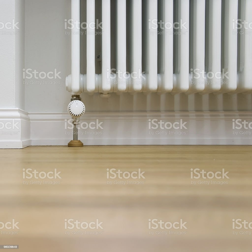 radiator and parquet stock photo