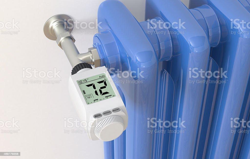 Heizkörper und thermostat – Foto