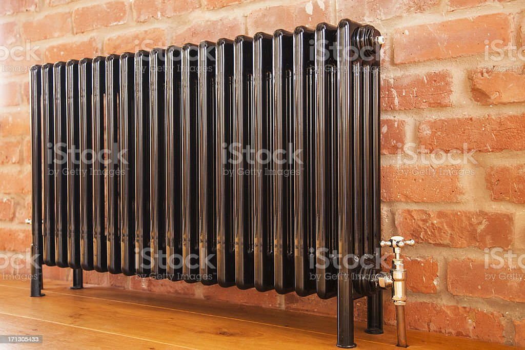 Radiator and valve stock photo