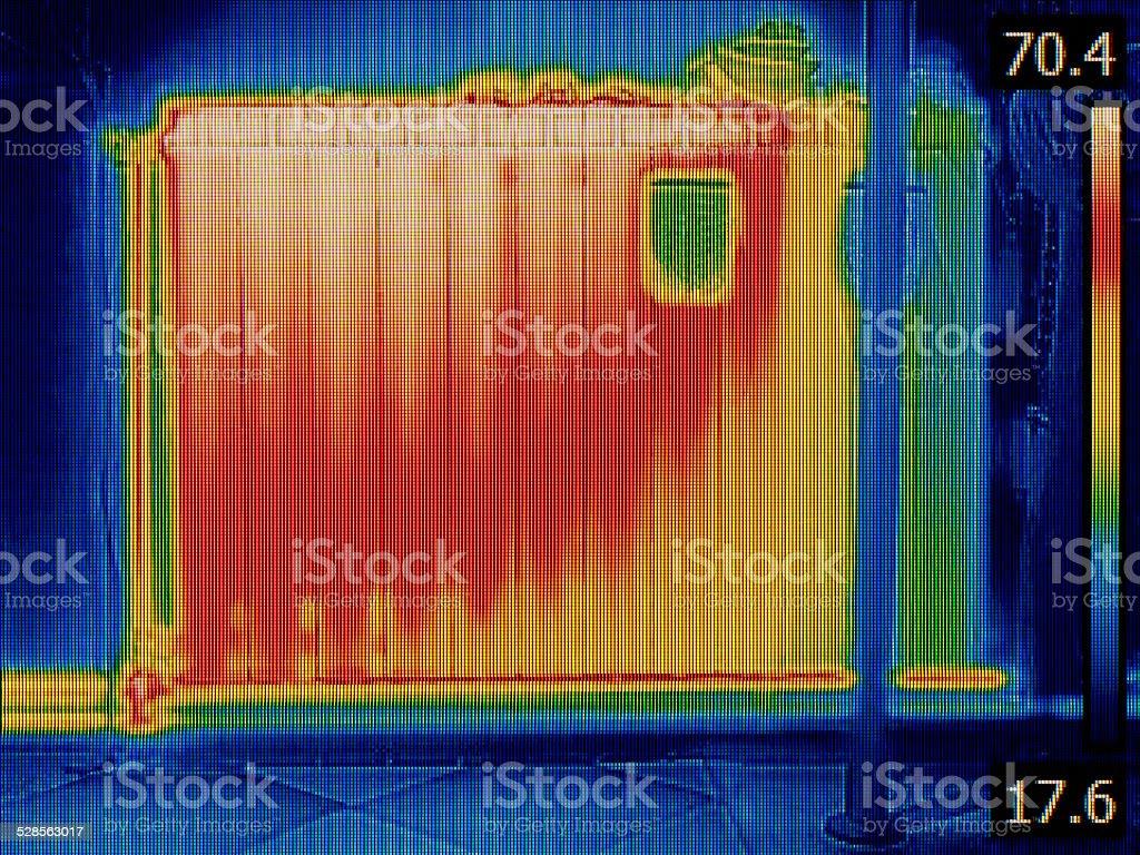 Radiator Heater Thermal Image stock photo