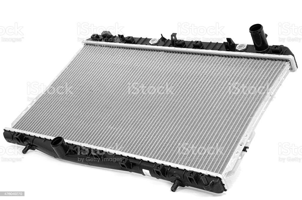 Radiator isolated on white stock photo