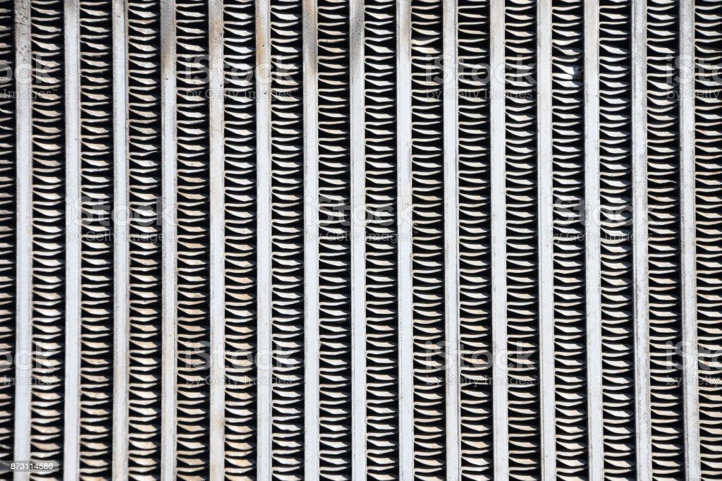 Radiator ribs stock photo