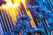 CPU radiator with dust illuminated by light