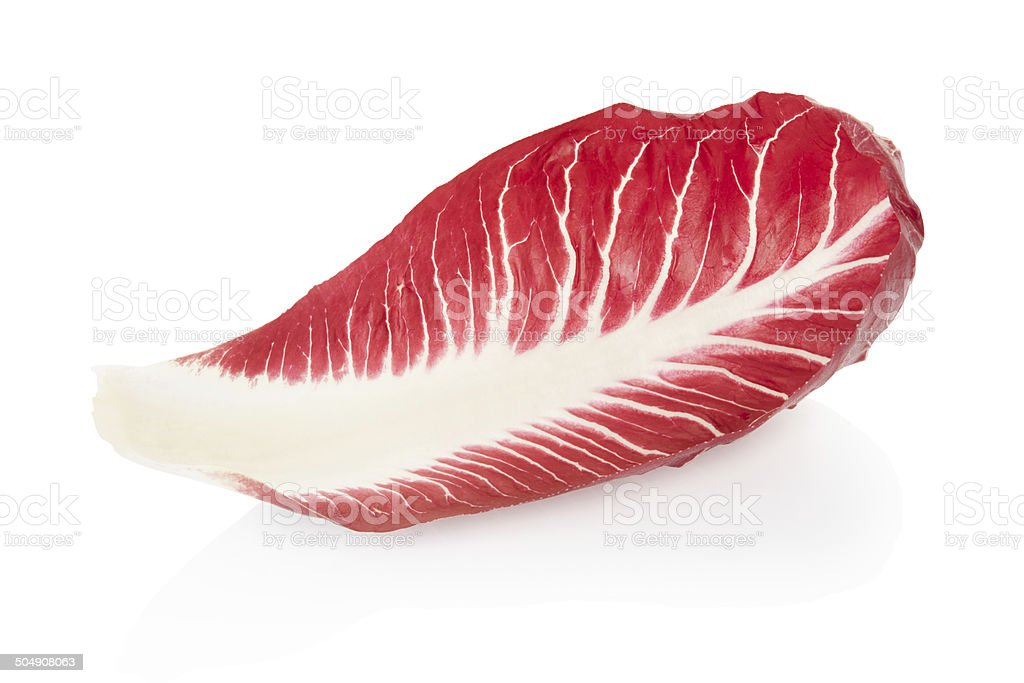 Radicchio leaf, red salad stock photo