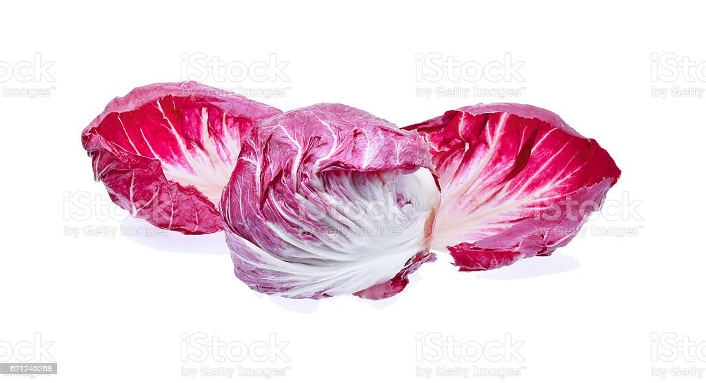 Radicchio, red salad isolated on white background stock photo