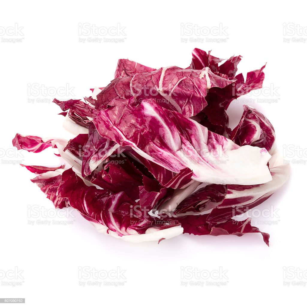 Radicchio, red salad isolated on white stock photo