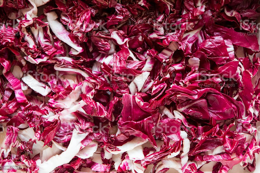 Radicchio sliced stock photo