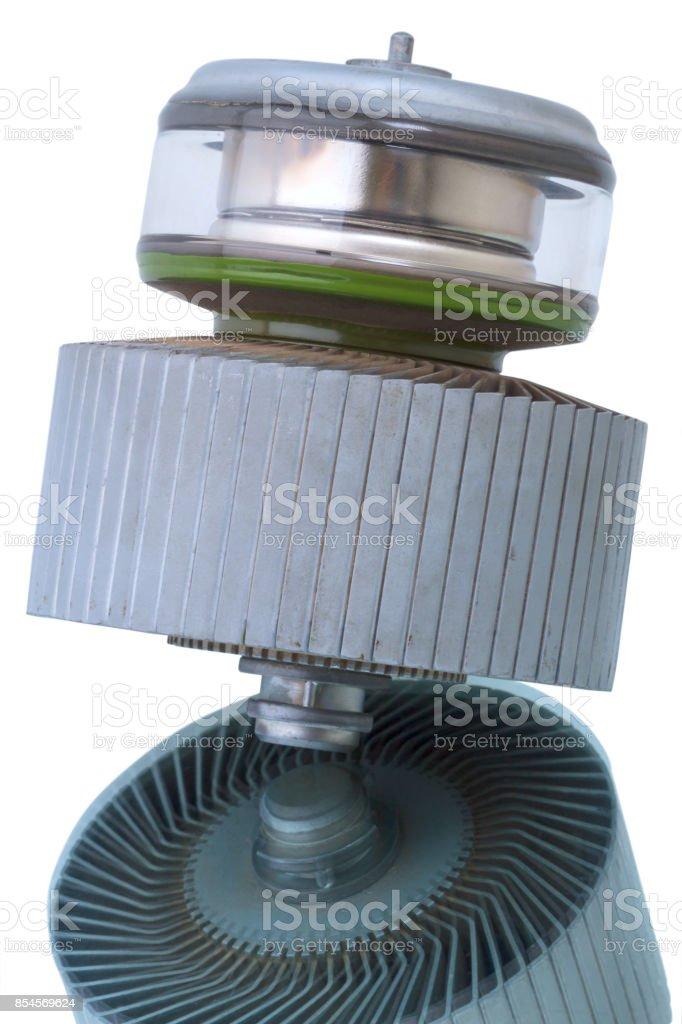 Radio amplifying tube stock photo