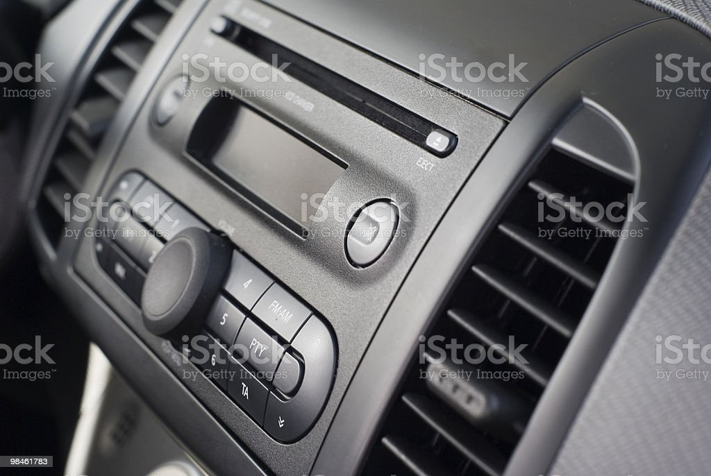 Radio and cd changer royalty-free stock photo