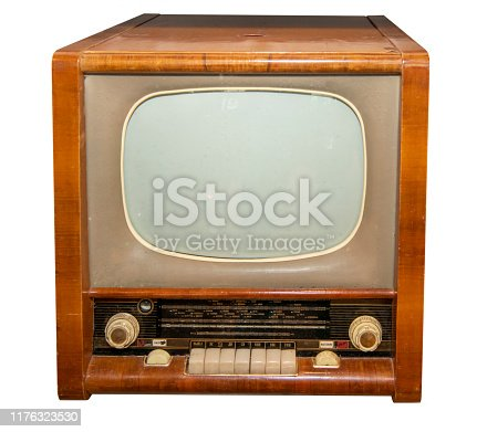 Radio and television combine, made in the USSR- isolated on white