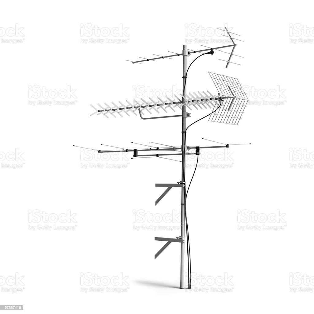 TV Radio antenna, aerial stock photo