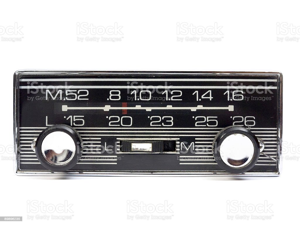 Radio car royalty-free stock photo