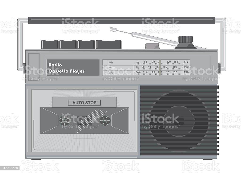 Radio Cassette Player stock photo