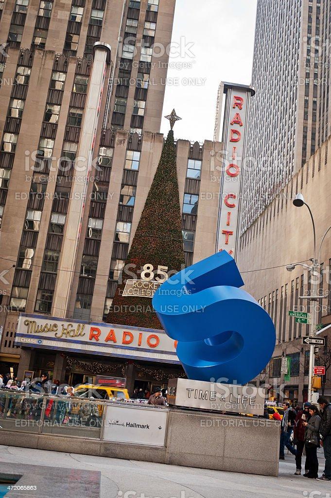 Radio City Music Hall in Manhattan royalty-free stock photo