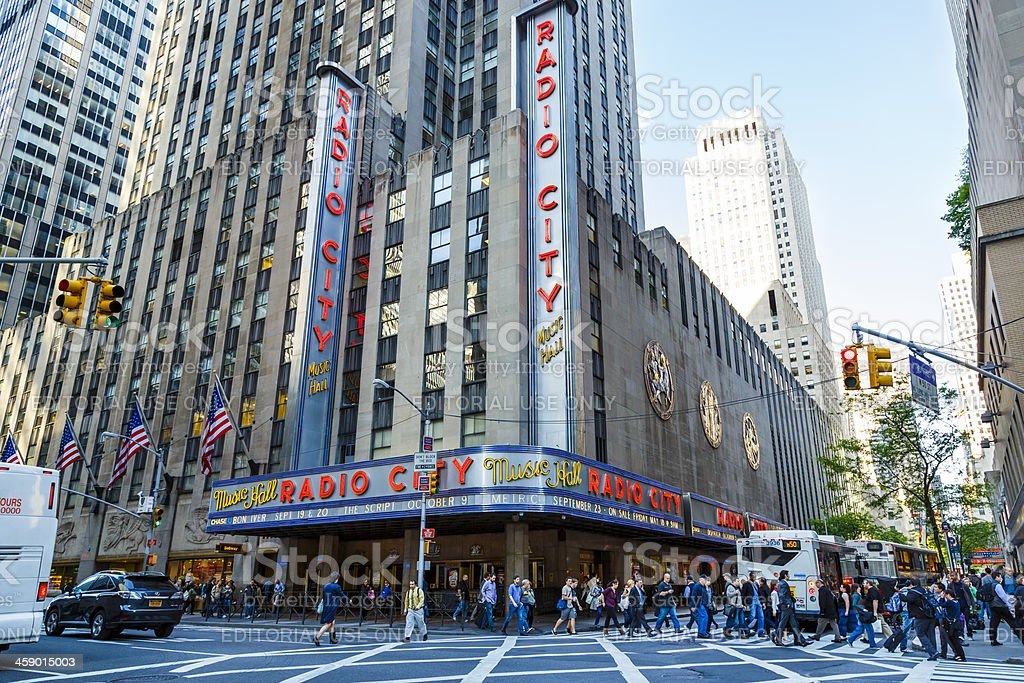 Radio City Music Hall in New York royalty-free stock photo