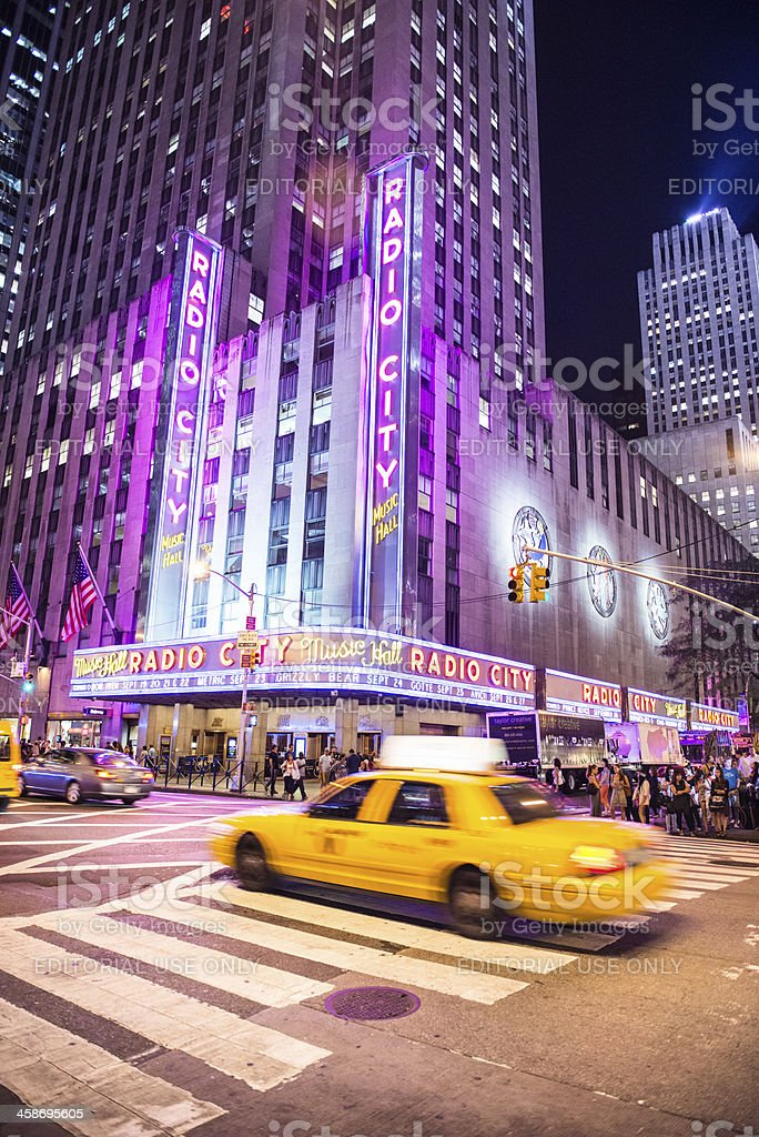 Radio City Music Hall NYC royalty-free stock photo