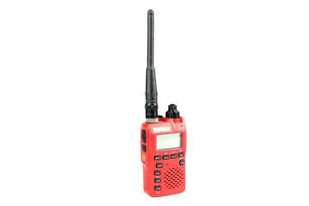 radio communication on white background - ham radio stock photos and pictures
