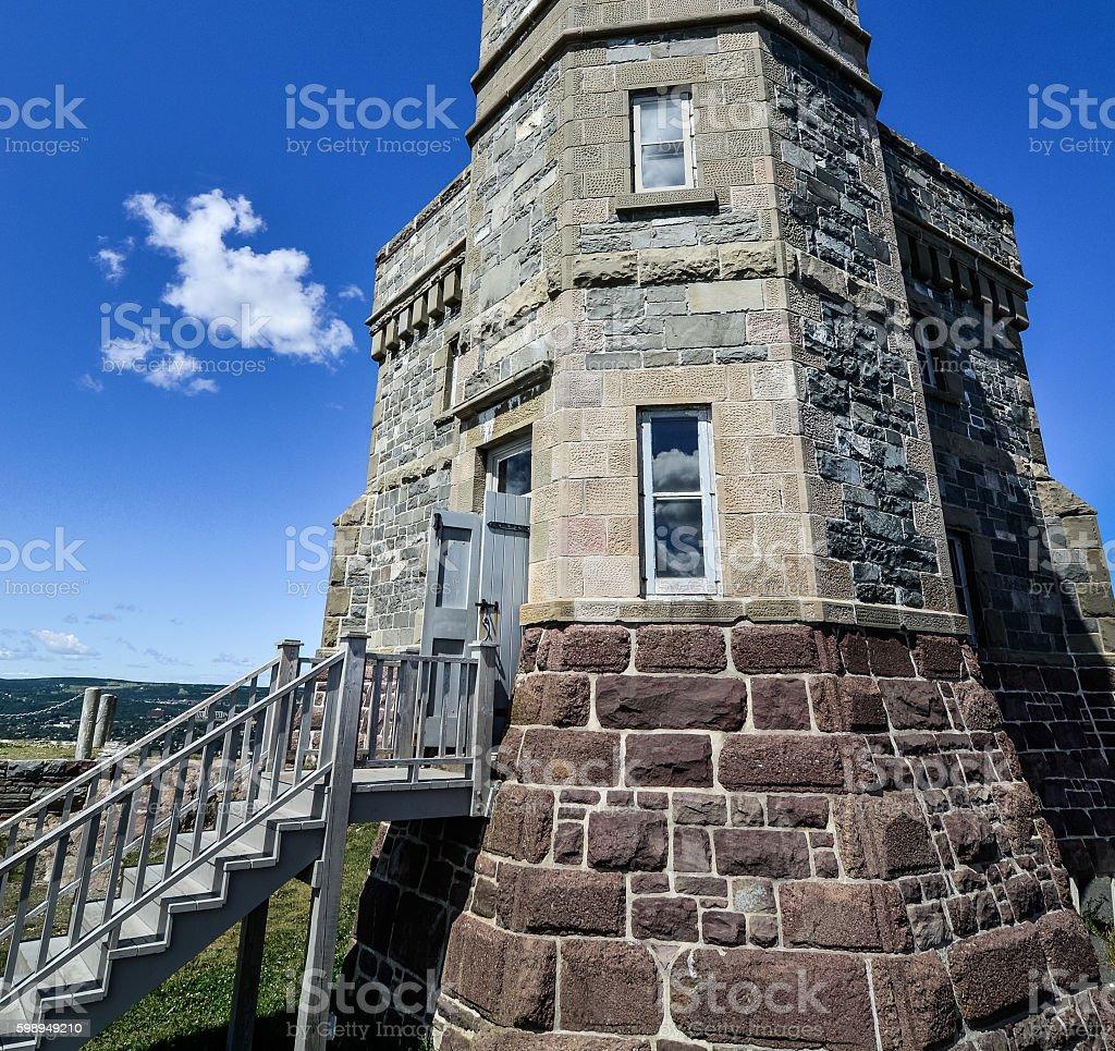 Radio communications tower, Signal Hill, St. John's, Newfoundland, Canada. stock photo
