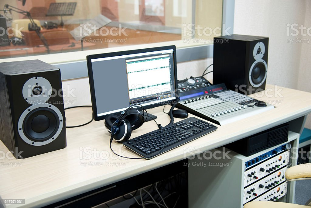 Radio computing stock photo