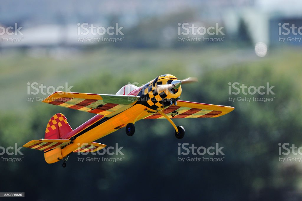 Radio control airplane stock photo