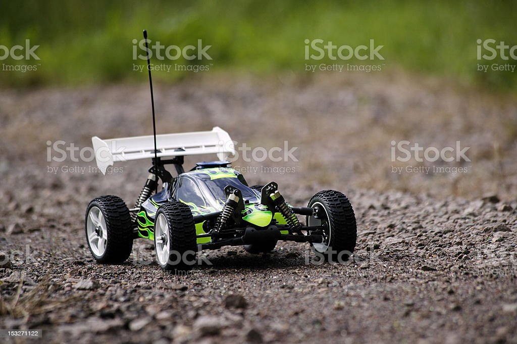 Radio Controlled Buggy on Gravel Track stock photo