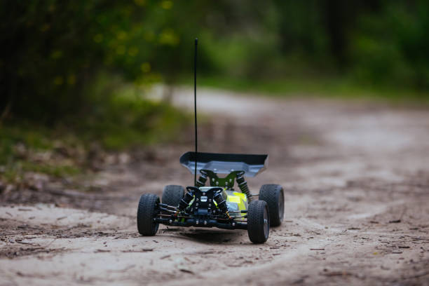 Radio Controlled Car In Action stock photo